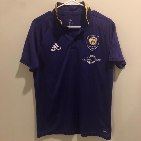 adidas Other - Adidas Climalite Orlando city soccer polo shirt